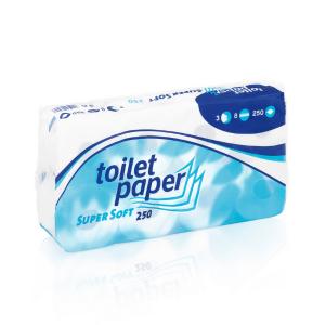 Papier toaletowy SuperSofr 8 x 250 listków - 72 rolek