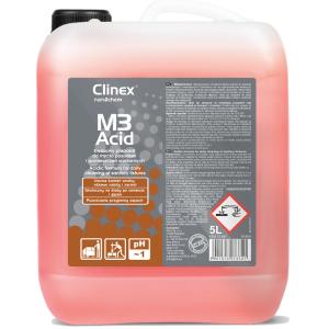 Kwasowy preparat do mycia posadzek i pomieszczeń sanitarnych Clinex M3Acid 5l